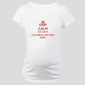 Keep calm we live in Columbus Ju Maternity T-Shirt