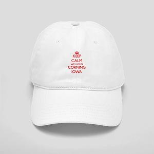 Keep calm we live in Corning Iowa Cap