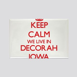 Keep calm we live in Decorah Iowa Magnets