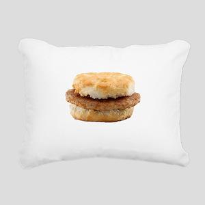 Sausage Biscuit Rectangular Canvas Pillow