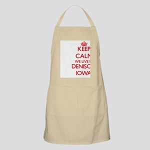 Keep calm we live in Denison Iowa Apron