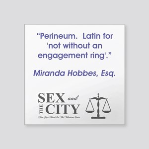 "PERINEUM Square Sticker 3"" x 3"""