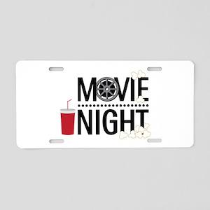 Movie Night Aluminum License Plate