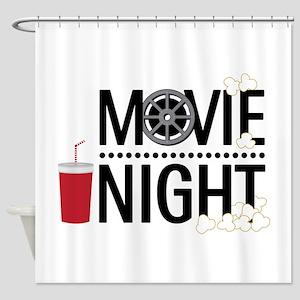 Movie Night Shower Curtain