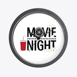 Movie Night Wall Clock