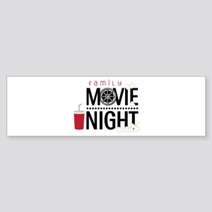 Family Movie Night Bumper Sticker