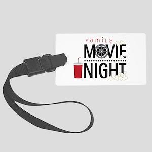 Family Movie Night Luggage Tag