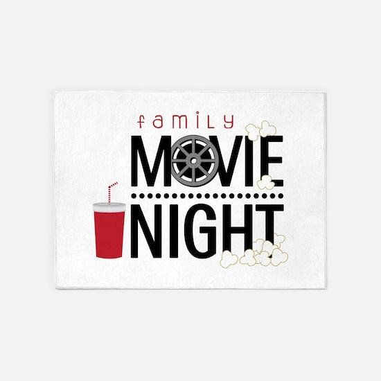 Family Movie Night 5'x7'Area Rug