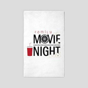 Family Movie Night Area Rug