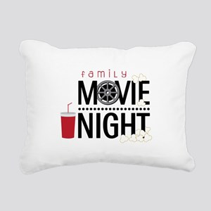 Family Movie Night Rectangular Canvas Pillow