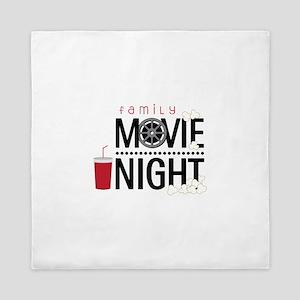 Family Movie Night Queen Duvet