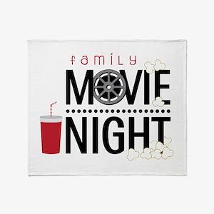 Family Movie Night Throw Blanket