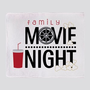Family Movie Night Throw Blanket