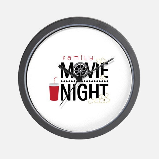 Family Movie Night Wall Clock