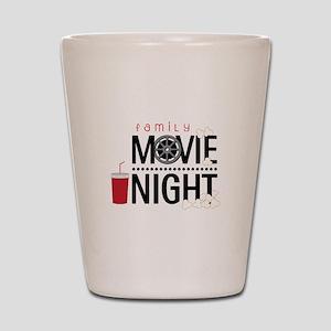 Family Movie Night Shot Glass