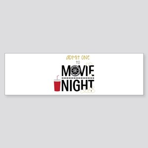 Admit one Movie Bumper Sticker