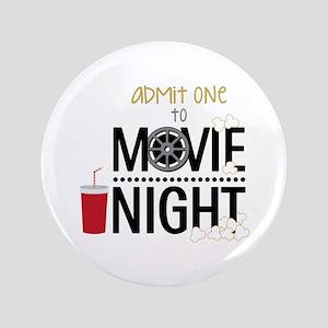 """Admit one Movie 3.5"""" Button"""
