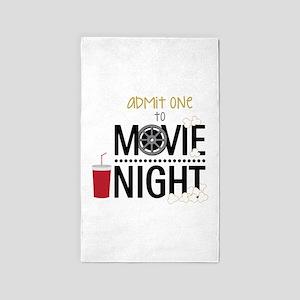 Admit one Movie Area Rug