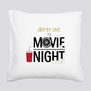 Admit one Movie Square Canvas Pillow