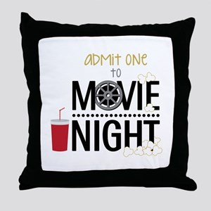 Admit one Movie Throw Pillow