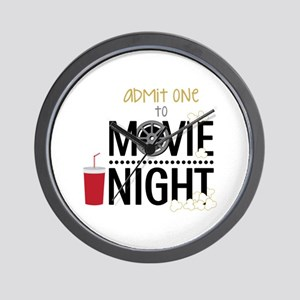 Admit one Movie Wall Clock
