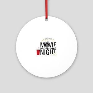 Movie Night Pop Ornament (Round)
