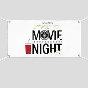 Movie Night Pop Banner