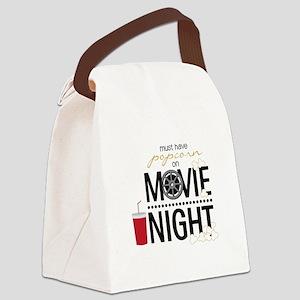 Movie Night Pop Canvas Lunch Bag