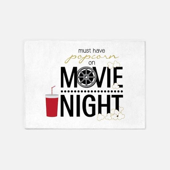Movie Night Pop 5'x7'Area Rug
