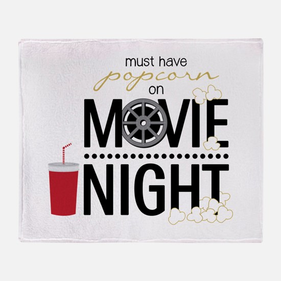Movie Night Pop Throw Blanket