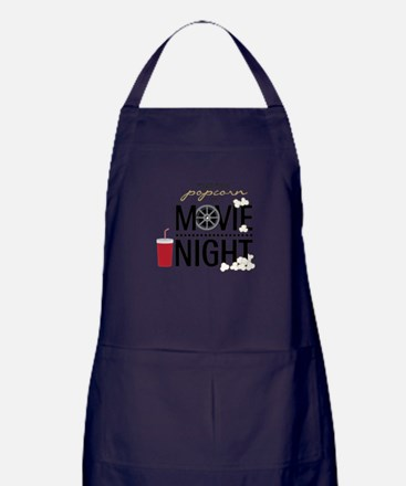 Movie Night Pop Apron (dark)