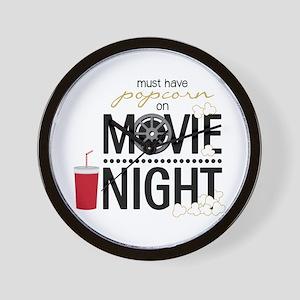 Movie Night Pop Wall Clock