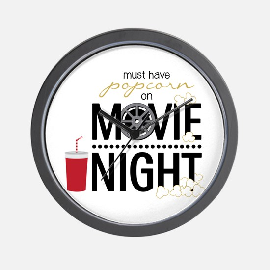 Movie Night Pop Wall Clock