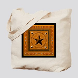 Orange Southwest Star Tote Bag
