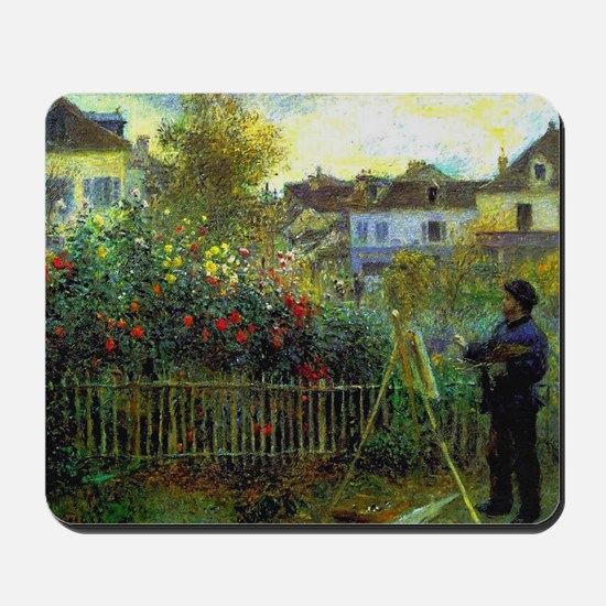 Monet Painting in his Garden Mousepad