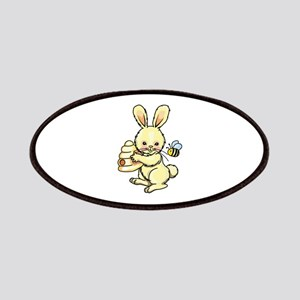 BUNNY WITH BEE AND HIVE Patches