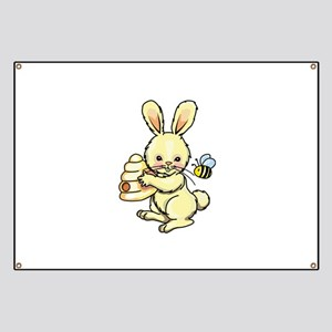 BUNNY WITH BEE AND HIVE Banner