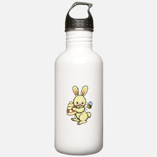 BUNNY WITH BEE AND HIVE Water Bottle