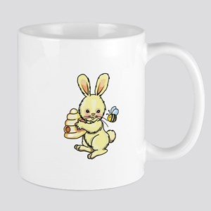 BUNNY WITH BEE AND HIVE Mugs