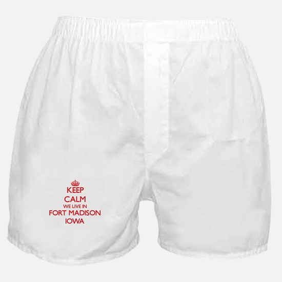 Keep calm we live in Fort Madison Iow Boxer Shorts