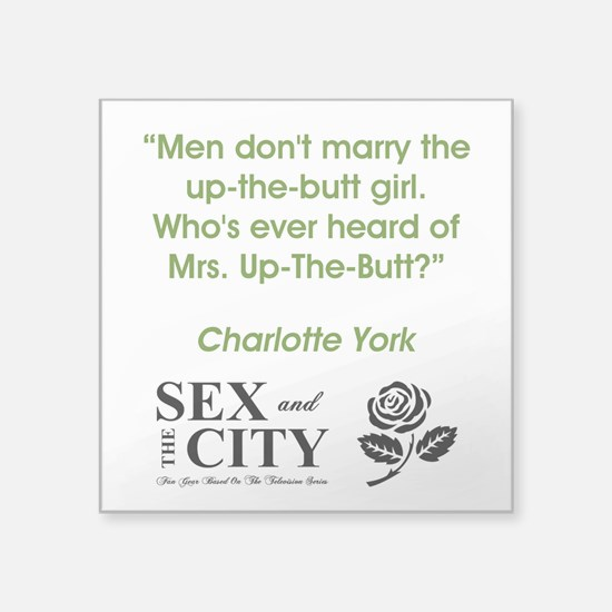 """MRS. UP-THE-BUTT Square Sticker 3"""" x 3"""""""