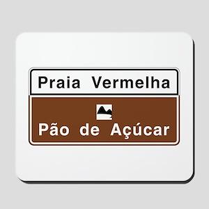 Red Beach/ Sugarloaf Mountain, Brazil Mousepad