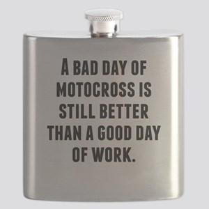A Bad Day Of Motocross Flask