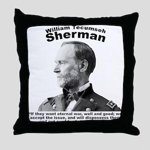 Sherman: Eternal Throw Pillow