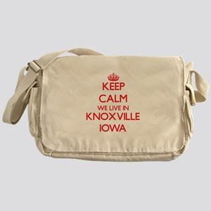 Keep calm we live in Knoxville Iowa Messenger Bag