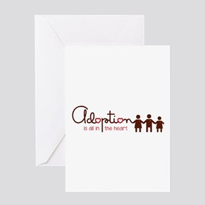 is all in heart Greeting Cards