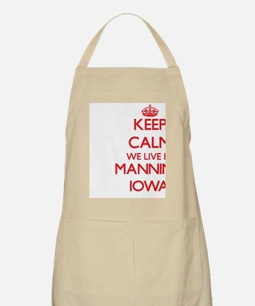 Keep calm we live in Manning Iowa Apron