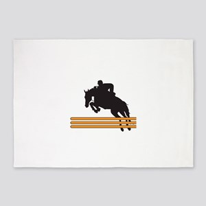 HORSE JUMPING 5'x7'Area Rug