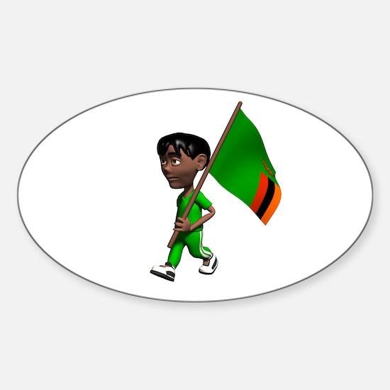 Zambia Boy Oval Decal