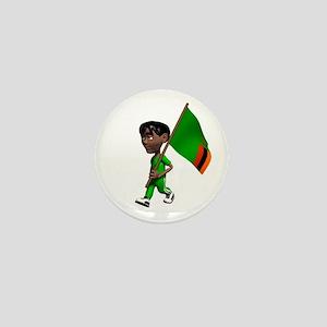 Zambia Boy Mini Button